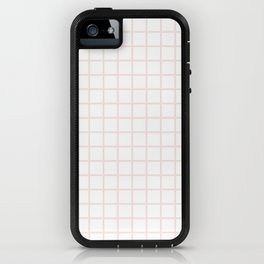 Champagne Pink Grid iPhone Case