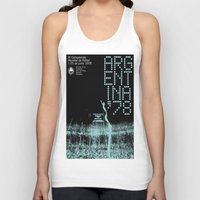 world cup Tank Tops featuring World Cup: Argentina 1978 by James Campbell Taylor