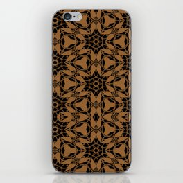 Black and Bronze Petals 2676 iPhone Skin