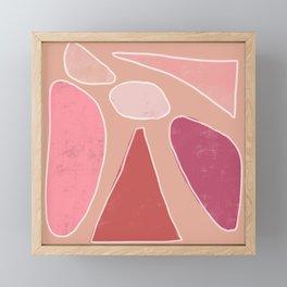 Abstract Illustration in Pink Framed Mini Art Print