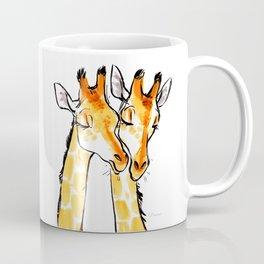 Giraffe Snuggles Coffee Mug