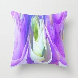 309 - Flower Angel abstract design Throw Pillow