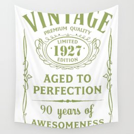 Green-Vintage-Limited-1927-Edition---90th-Birthday-Gift Wall Tapestry