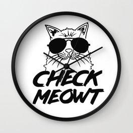Meowt Cat Wall Clock