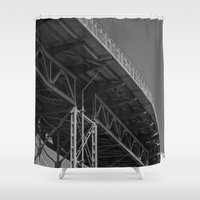 bridge Shower Curtains featuring Bridge by Christophe Chiozzi