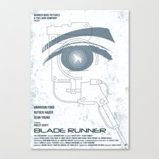 BLADE RUNNER (White - Voight Kampf Test Version) Canvas Print
