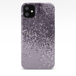Sparkling Lavender Lady Glitter #2 #shiny #decor #art #society6 iPhone Case