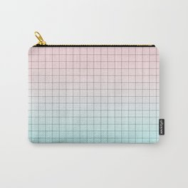 Millennial Pink and Light Blue Geometry Carry-All Pouch