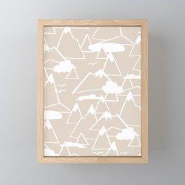 Mountain Scene in Beige Framed Mini Art Print