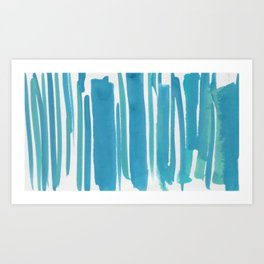 14   |  190408 Blue Abstract Watercolour Art Print