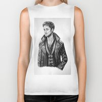 hook Biker Tanks featuring Captain Hook by Olivia Nicholls-Bates