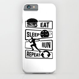 Eat Sleep Run Repeat - Running Runner Fitness iPhone Case