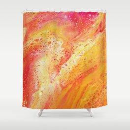Lava Marble Shower Curtain