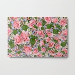 Aesthetic Floral Print Metal Print