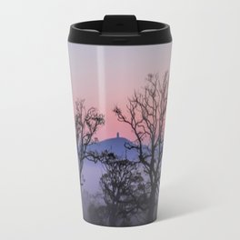 Through the trees to Glastonbury Travel Mug