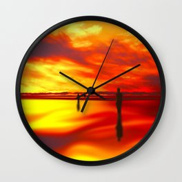 Reflections of Sunset Wall Clock