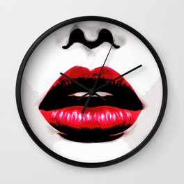 Red Lip Wall Clock