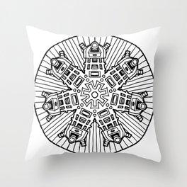 Mandalek - Dalek Mandala Throw Pillow