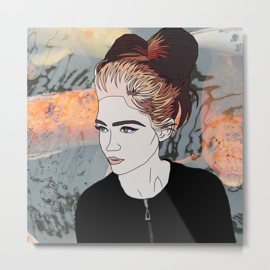 Grimes Digital Print Metal Print