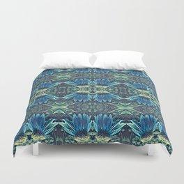 Blue Echinacea, Teal Cone Flowers, Blue Flower Dream Duvet Cover