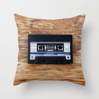 cassette Throw Pillows featuring Cassette by Coconut Living
