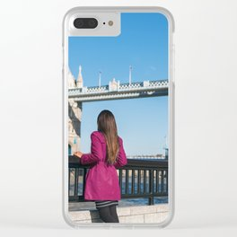 Woman in London Clear iPhone Case