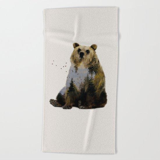 Bear Relaxing Beach Towel