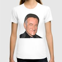 robin williams T-shirts featuring A Man In Pieces - Robin Williams Memorial by Designs By Misty Blue (Misty Lemons)