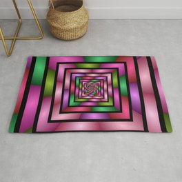 Colorful Tunnel 1 Digital Art Graphic Rug
