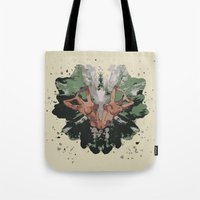 camouflage Tote Bags featuring CAMOUFLAGE by GEEKY CREATOR
