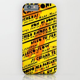 Vintage Italian and Dada Poster Graphic Design Vector Art iPhone Case