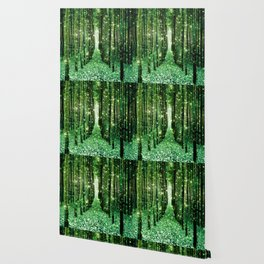 Magical Forest Green Elegance Wallpaper