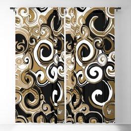 Coffee Swirls Blackout Curtain