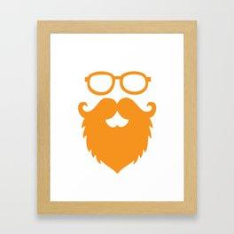 Hipster Beard Framed Art Print
