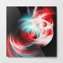 abstract fractals 1x1 reac2s Metal Print