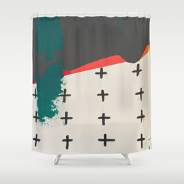 Cross Across the Landscape Shower Curtain