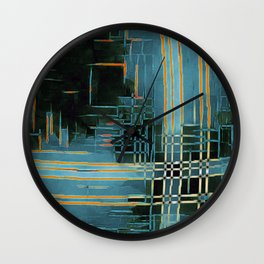Aqua and Whatever Wall Clock