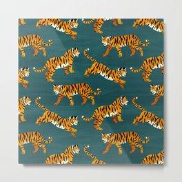 Bengal Tigers - Navy  Metal Print