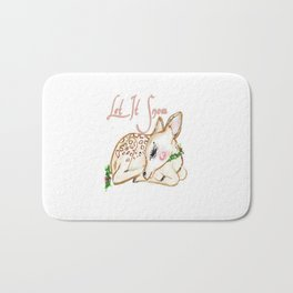 Christmas Fawn Bath Mat