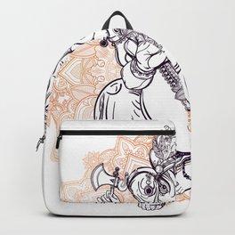 Lord Ganesha on Mandala Backpack