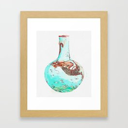 TURQUOISE-GROUND YANGCAI 'DRAGON' VASE, TIANQIUPING SEAL MARK AND PERIOD OF QIANLONG watercolor by A Framed Art Print