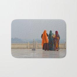 Colourful Indian women at Taj Mahal Bath Mat