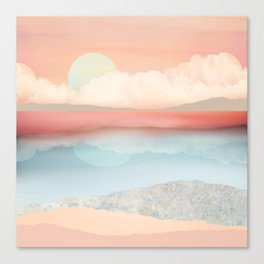 Mint Moon Beach Canvas Print