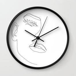 Fine Line Beauty Wall Clock