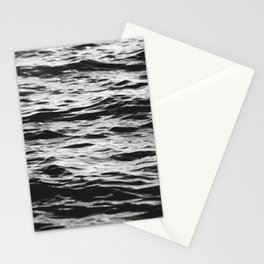 Marble Waters Black and White Stationery Cards