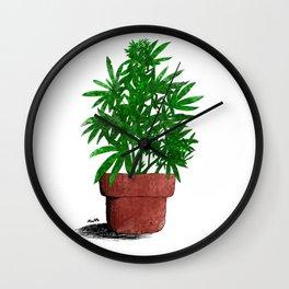 Weed Plant Marijuana Cannabis Wall Clock