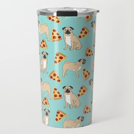 Pug Pizza Party cute pug dog owner gifts food pet gifts puggle puppy dog pet portrait trendy  Travel Mug