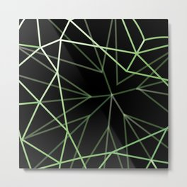 Black and Green pattern Metal Print