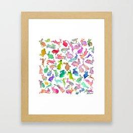 Watercolour Bunnies Framed Art Print