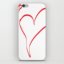 Several red hearts, love, sentimentality, romanticism iPhone Skin